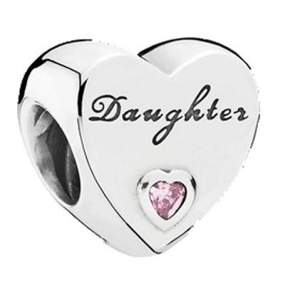 PANDORA Element 791726PCZ Daughter Herz Charm
