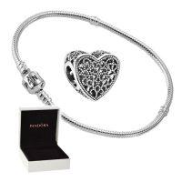 Pandora Starterset Armband 590702HV + Charm 791811