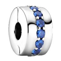 PANDORA Element 791972C01 blau funkelnder Clip