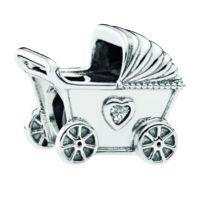 PANDORA Element 792102CZ Kinderwagen Charm