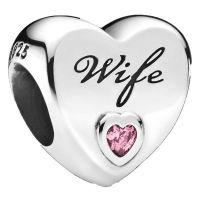 PANDORA Element  798249PCZ Love Wife Charm