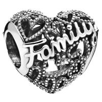 PANDORA Element  798571C00 Family Heart Charm