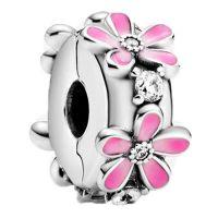 PANDORA Element 798809C01 pink Daisy Flower Clip